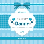 Welcome It's a baby love + eigen naam/geboortedatum
