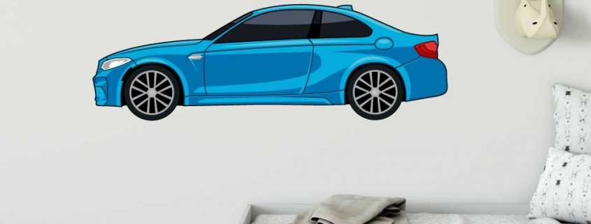muursticker full color bmw 3 serie f018
