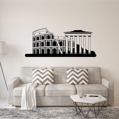 Muursticker. Oudheden van de stad Rome Italie. Div. kleuren + afmetingen