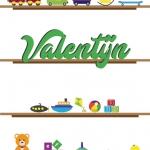 Poster. A4 en A3. Planken met speelgoed. Inclusief eigen naam