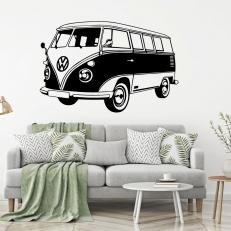 Muursticker. Volkswagen Transporter bus T1. K701A