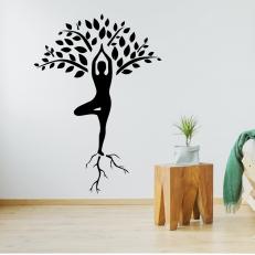 Muursticker. De Yogaboom. In diverse kleuren en afmetingen beschikbaar