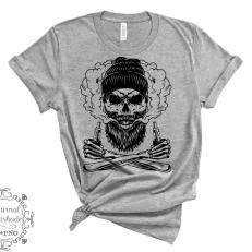 Vapende Hipster Skull SVG Digitaal Design File