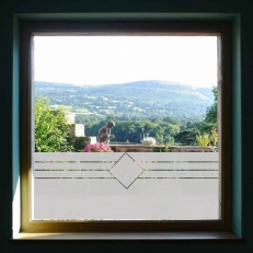 raamfolie overige ramen drei lijnen met vierkant R11