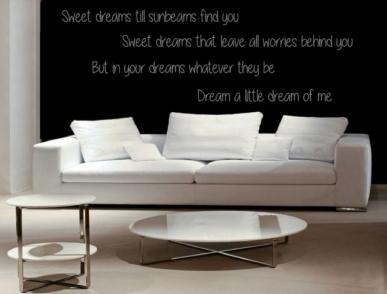 Muursticker Tekst: Sweet dreams till sunbeams find you...etc