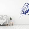 Muursticker. Moeder Leeuw met Welp. Beschikbaar in diverse kleuren