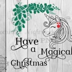 Digitaal Design Kerst Tekst: Have a Magical Christmas - SVG download voor Cricut, Cameo, laser cutters, snijplotters, enzovoort
