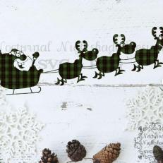 Digitaal Design Kerst Kerstman in zijn slee - SVG download voor Cricut, Cameo, laser cutters, snijplotters, enzovoort