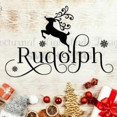 Digitaal Design Kerst Rudolph Rendier - SVG download voor Cricut, Cameo, laser cutters, snijplotters, enzovoort
