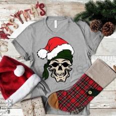 Digitaal Design Kerst Skull 2 - SVG download voor Cricut, Cameo, laser cutters, snijplotters, enzovoort