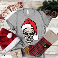 Digitaal Design Kerst Skull - SVG download voor Cricut, Cameo, laser cutters, snijplotters, enzovoort