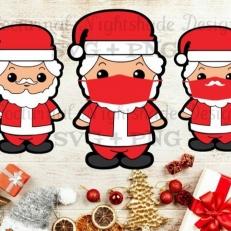 Digitaal Design Kerst Kerstmannen – SVG download voor Cricut, Cameo, laser cutters, snijplotters, enzovoort