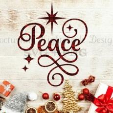 Digitaal Design Kerst Tekst: Peace – SVG download voor Cricut, Cameo, laser cutters, snijplotters, enzovoort