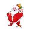 Raamfolie Statisch Kerstman met bel in de hand QS371 A