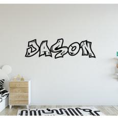 Muursticker Eigen naam in Graffity stijl QS383