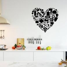 Muursticker Keuken Hart van Keukengerei K277A