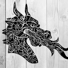 Digitaal Design Fantasy Dragon Mandala Draak Mandala
