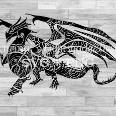 Digitaal Design Fantasy Dragon Vliegende Draak