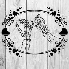 Digitaal Design Skeleton Skelet Belofte met de Pinken