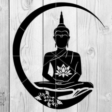 Digitaal Design Spiritualiteit Boeddha Yogha Chakra Lotus
