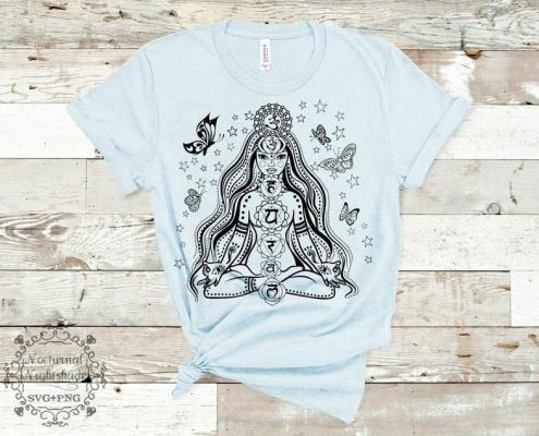 Digitaal Design Spiritualiteit Chakra Lady Chakra Vrouw Yoga
