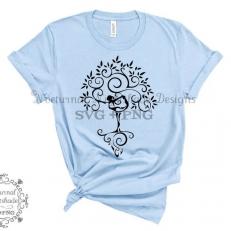 Digitaal Design Spiritualiteit Tree of Life De Levensboom Yoga Pose