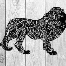 Digitaal Design Dieren Afrikaanse Leeuw Mandala