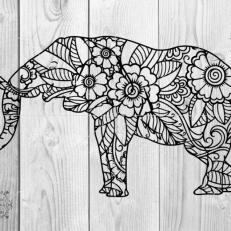 Digitaal Design Dieren Afrikaanse Olifant Mandala 2