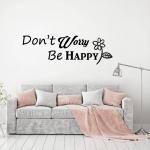 Muursticker Tekst: Don't Worry Be Happy K048A