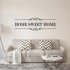 Muursticker Tekst: Home Sweet Home K700A