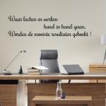 Muursticker Tekst: Waar lachen en werken hand in hand gaan...enz. K713A